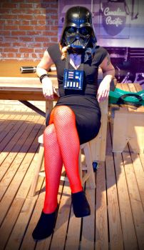 Nerdy dirty inked and curvy Vader by house1027