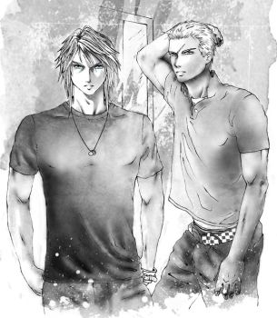 Squall y Seifer by Riny-san