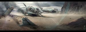 Crashed Ship - Well City by MARV6617