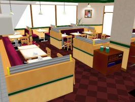 PL2 MMD Restaurant Stage ( DL ) by xXONIONSXx