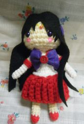 Crocheted Sailor Mars by Zhonaluz