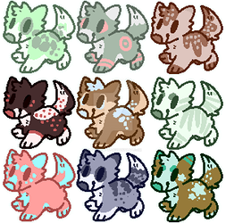 Flatsale Dog Adopts (open) by spiderliings