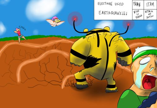 Electivire using earthquake by FakeSword