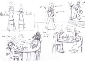 Organization XIII at a bar by Beltanez