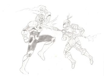 Highfather vs Darkseid by MHT002
