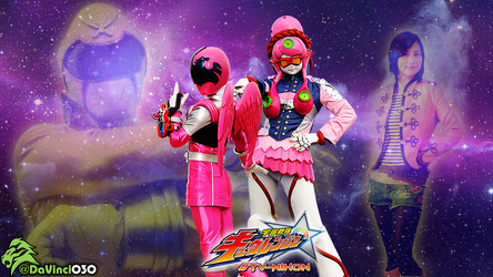 KyuRanger Splash: WashiPink = GokaiYellow by DaVinci030