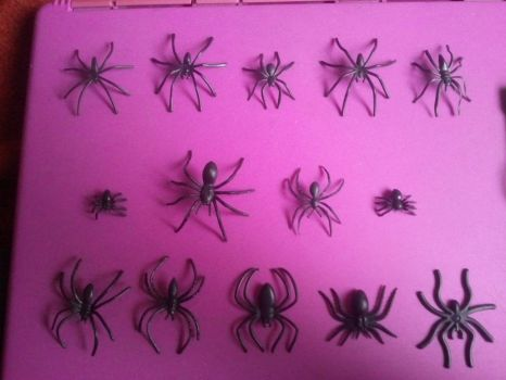 My Plastic Spider Collection by BenorianHardback26