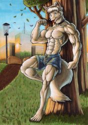 Takkie the Wolfboy by Demi-Beast