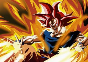 Super Saiyan God by XeraArts