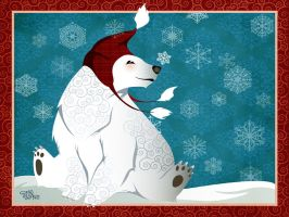 :winter wonderland: polar bear by flashparade