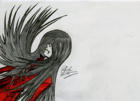 Kinda reminds you of Alucard doesn't it? by ArtisticallyBadAss