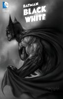 My BATMAN BLACK and WHITE painted cvr A unofficial by RayDillon