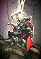 the mighty thor by Birdfish420