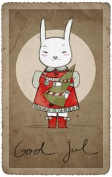 a bunny christmas by cocinando-colores