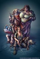 Fable 2 Four Heroes by OmenD4
