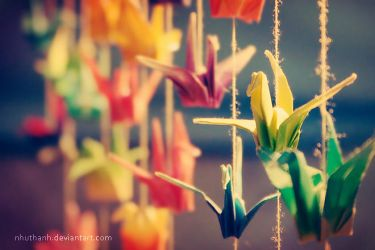 Thousand Paper Cranes by ntpdang