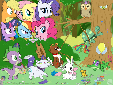 They Want to Be the Mane 6 by SwanLullaby