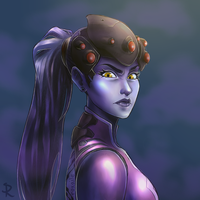 Widowmaker Experimental Painting by Roxaile