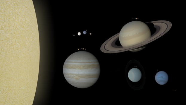 Solar System Montage (Remastered) by MrSpace43-Celestia