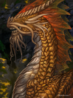Golden dragon by Amenlona