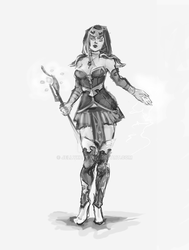 Mage female concept by jellyxbat