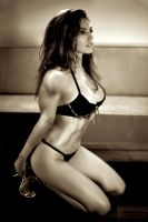Kelly Brook Muscle Growth by WIZZLE11