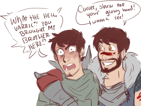 Inquisitor Hawke and Champion Hawke by 1000butts