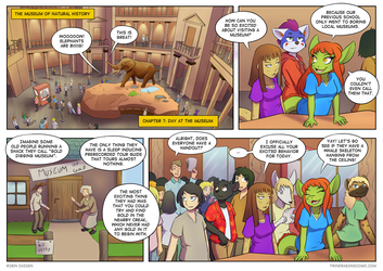 Twin Dragons page 159: Day at the museum by TheNekoboi
