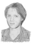 Pencil portrait without glasses by f1f1s