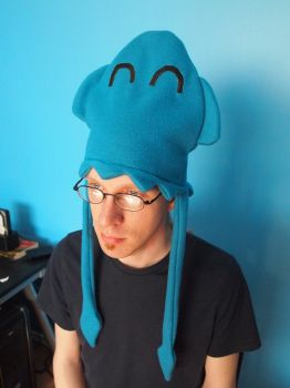 Sinky the Blue Squid hat by WhimsicalSquidCo