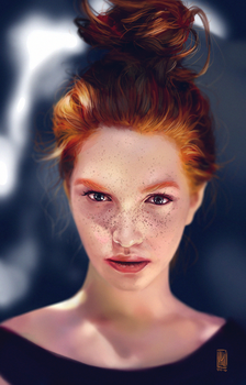 Portrait practice. by mkw-no-ossan