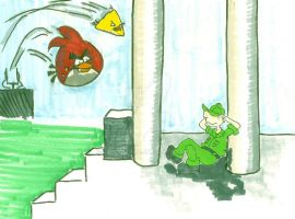 Angry Birds and Beetle Bailey by bedlamnac