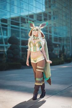 Pokemon - Leafeon -01- by beethy