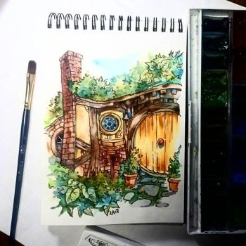 Instaart - Cute Hobbithouse by Candra
