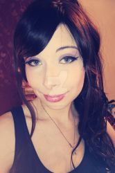 Megara makeup and wig test by HeartlessTira