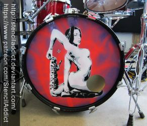 Rachel Starr Kick Resonant Drum Head by StencilAddict
