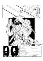 Deadpool and Dante Inks by BouncieD