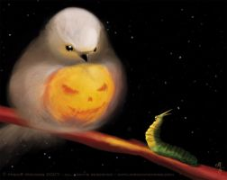 Pumpkin Bird by ginee