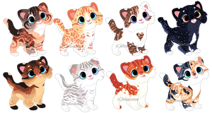 Kitten Adopts 4 [CLOSED} by Chintzy-Adopts