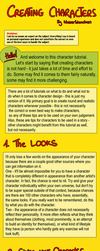 How to Build Characters by Wasserbienchen