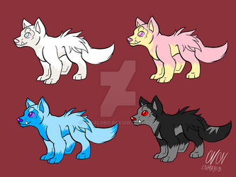 Poochyena Odd Colors Designs by Pokelobo
