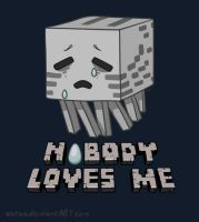 A Minecraft Ghast -Nobody Loves Me- by Sathanna