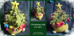 Christmas Hat with lights by Kampfkewob