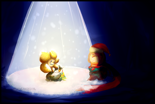 Undertale: Snowy The Flower Was. by Cleasia