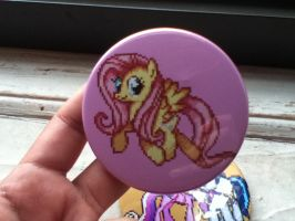 A Wild Fluttershy Pixel Pin Appeared by Kevfin