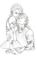 Clary and Jace Sketch by Leenieh