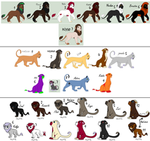 lion breedibles. all(most) my lion OCs by woofwoofsg1