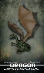 Dragon PNG Stock Pack 1 by Alegion-stock