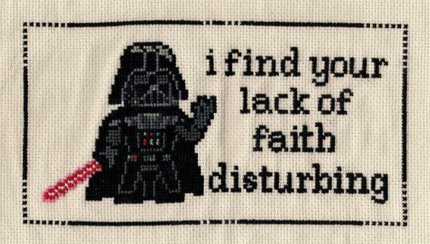Darth Vader X-Stitch by Shellfx