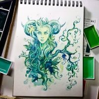 Instaart - Green Lady by Candra